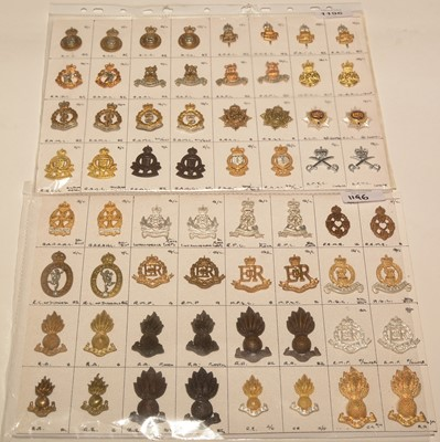 Lot 1196 - A collection of 32 pairs British Military Corps collar badges.