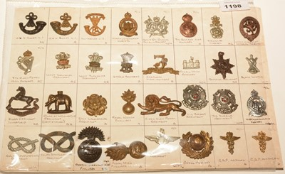 Lot 1198 - A collection of 32 British Military Collar badges.