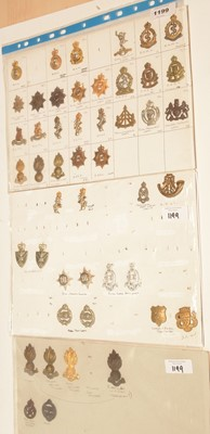 Lot 1199 - A collection of 27 British Military collar badges.