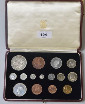 Lot 194 - 1937 George VI specimen coin set