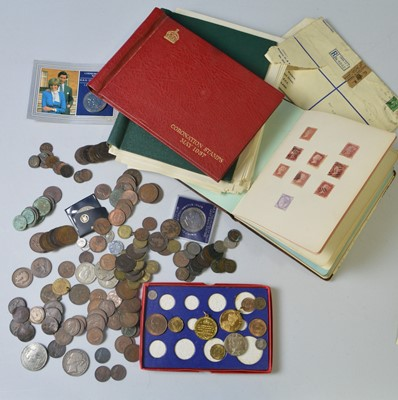 Lot 193 - Stamps and coins
