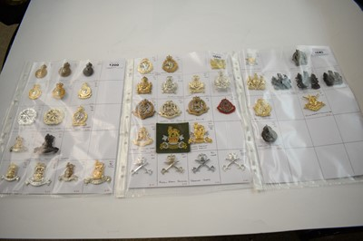 Lot 1200 - A collection of 43 British cap badges.