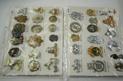 Lot 1207 - A collection of 37 South African Military cap badges.