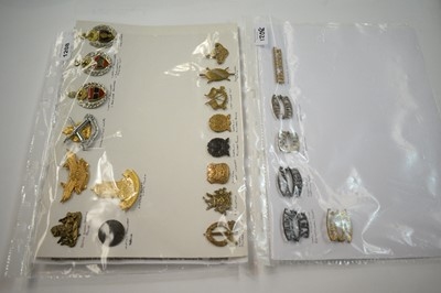 Lot 1208 - A collection of 22 South African cap, collar and shoulder titles.