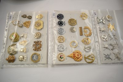 Lot 1215 - A collection of 42 mixed Military cap badges.