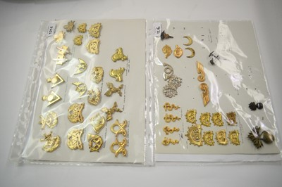 Lot 1216 - A collection of 22 pairs and 5 single Finnish Military badges.