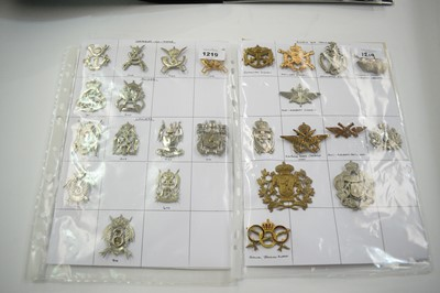 Lot 1219 - A collection of 25 Belgian cap badges.