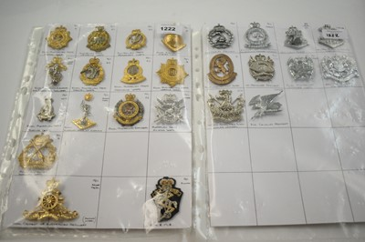 Lot 1222 - A collection of 25 Australian metal cap badges.