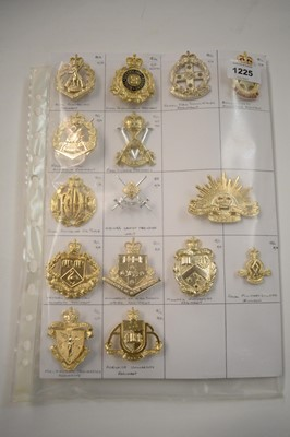 Lot 1225 - A collection of 15 Australian Military cap badges.