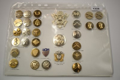 Lot 1228 - A collection of 31 American metal Insignia badges.