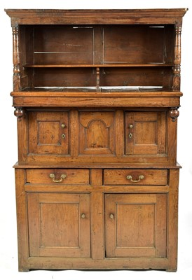 Lot 849 - 17th Century and later oak court cupboard