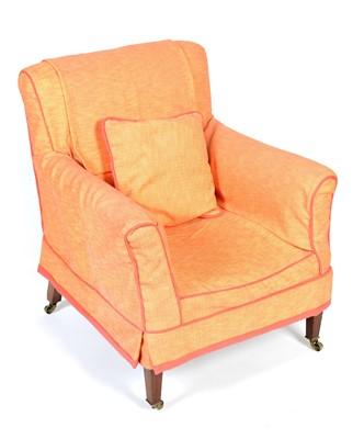 Lot 851 - Howard & Sons: an early 20th C armchair.
