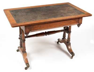 Lot 855 - Victorian mahogany writing desk