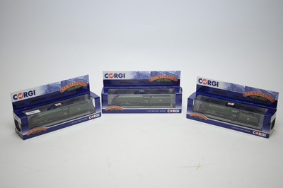 Lot 790 - 1:120 scale Corgi Rail Legends diecast model railway locomotives.