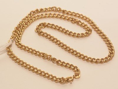 Lot 205 - 9ct yellow gold chain necklace
