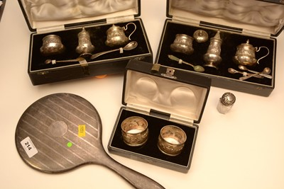 Lot 214 - Silver condiments and other items