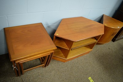 Lot 25 - G-Plan: nest of 'Astro' tables, TV cabinet, and corner cabinet.