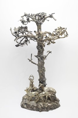 Lot 134 - A 19th Century silver-plated table centrepiece.