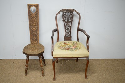 Lot 59 - Two early 20th Century chairs