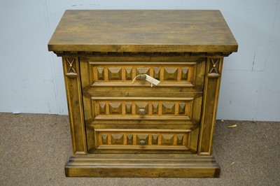 Lot 120 - Pair of 20th Century hardwood chest of drawers.