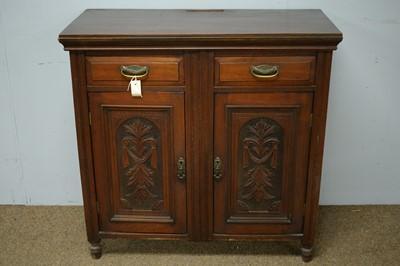 Lot 78 - Edwardian walnut side cabinet