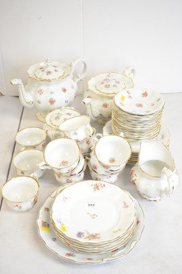 Lot 333 - Early 20th C Continental porcelain tea service.