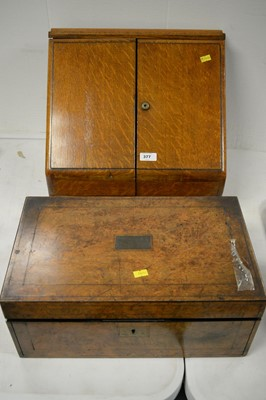 Lot 377 - Stationary cabinet and writing slope.