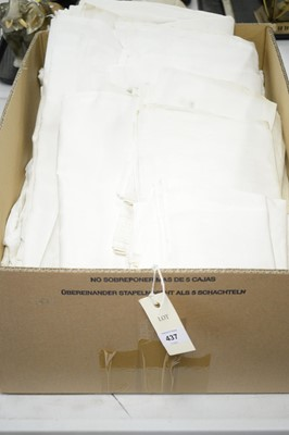 Lot 437 - A selection of white damask table linen.