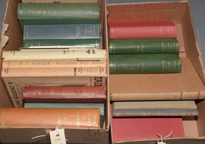 Lot 460 - Two boxes of books, subjects mainly canine interests