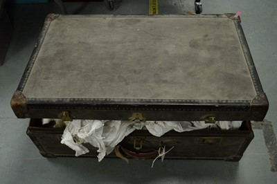 Lot 484 - Watajoy travel trunk and children's clothing.