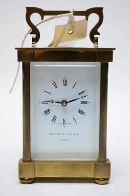 Lot 385 - Modern carriage clock.