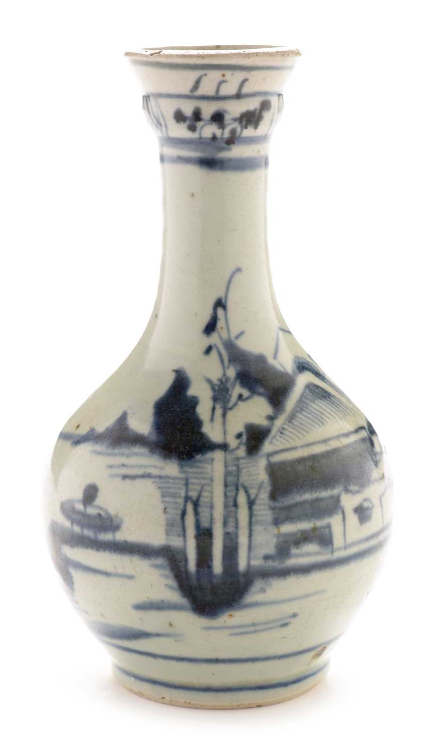 Lot 419 - Provincial Chinese blue and white guglet
