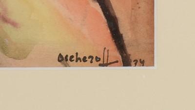 Lot 678 - Grigorij Oscheroff - watercolour
