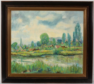 Lot 749 - Manner of Achille Lauge - oil on canvas