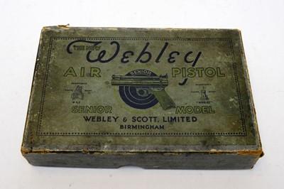 Lot 1016 - Webley Senior air pistol in original box