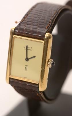 Lot 215 - Must de Cartier lady's wristwatch.