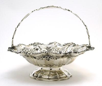 Lot 167 - A Victorian silver basket.