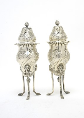 Lot 169 - A pair of Victorian silver sugar casters.
