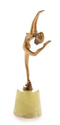 Lot 799 - Lorenzl gilt bronze dancer