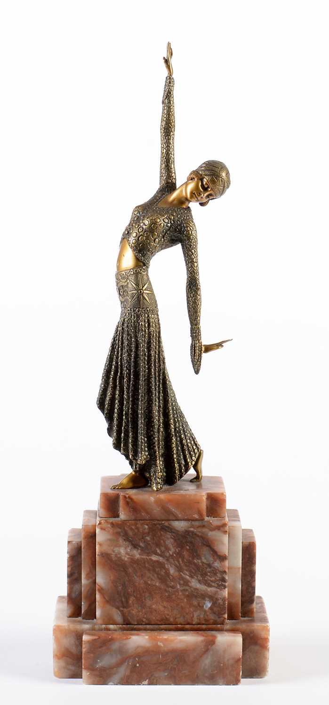 Lot 775 - Reproduction Bronze Art Deco Figure.