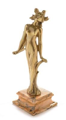 Lot 800 - Art Nouveau bronze nude