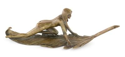 Lot 805 - French Art Nouveau bronze nude