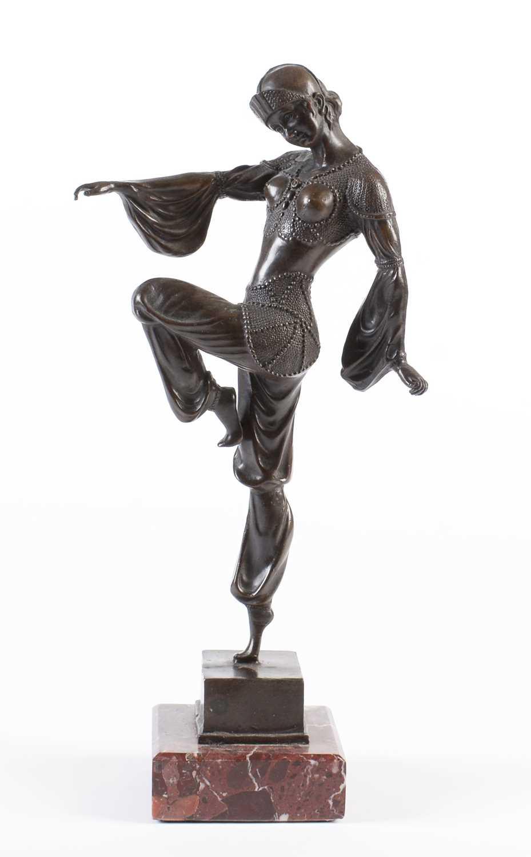 Lot 777 - Reproduction Art Deco Bronze
