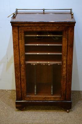 Lot 59 - Victorian walnut music cabinet