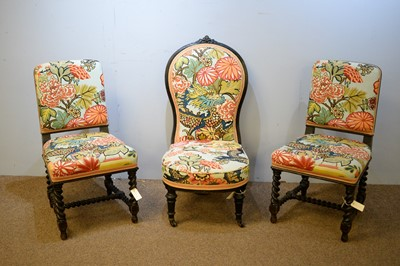 Lot 4 - Three early 20th C chairs.