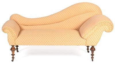 Lot 906 - Late Victorian chaise longue