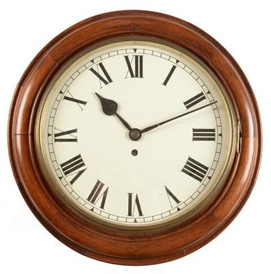 Lot 750 - Early 20th Century mahogany wall clock
