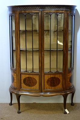 Lot 1 - 20th Century mahogany bowfront display cabinet.