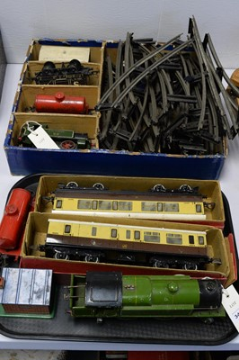 Lot 347 - Hornby loco, carriages, track, etc.