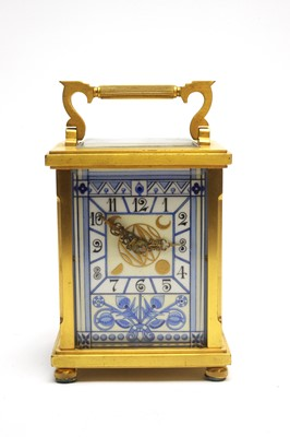 Lot 768 - Late 19th C aesthetic carriage clock